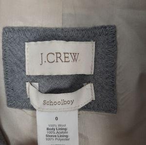 J. Crew Jackets & Coats - J. Crew Schoolboy Wool Blazer Light Grey Size 0